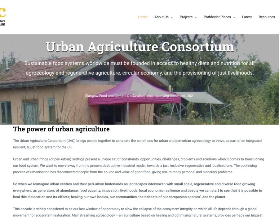 Urban Agriculture website